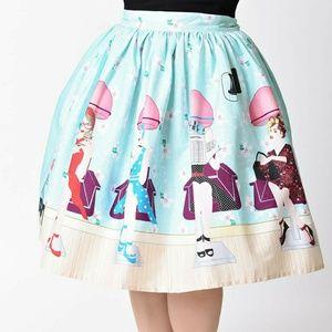 Unique Vintage Beauty Parlor Skirt 2X